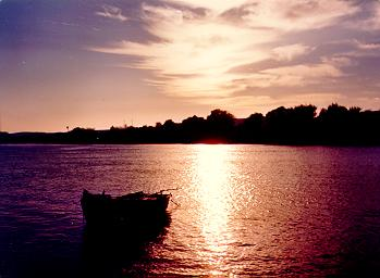 Aswan, Egypt : Nile at Sunset