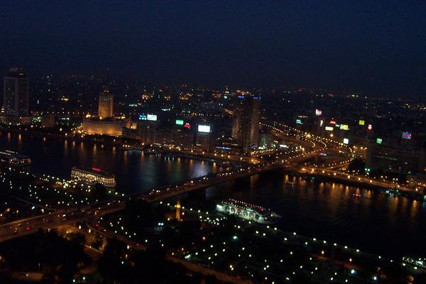 Cairo, Egypt: Nile View at night