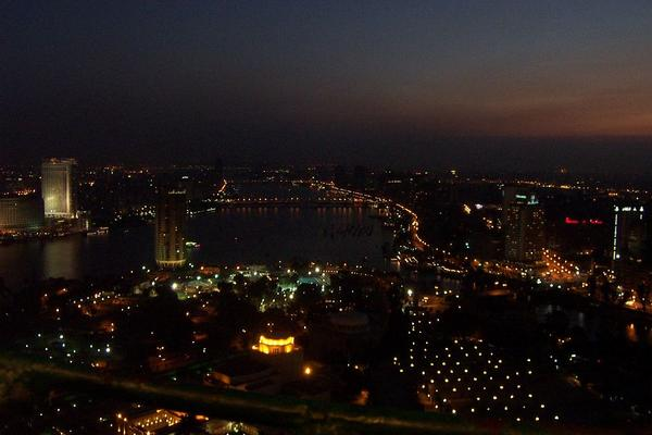 Cairo, Egypt: View of Cairo at night (2)