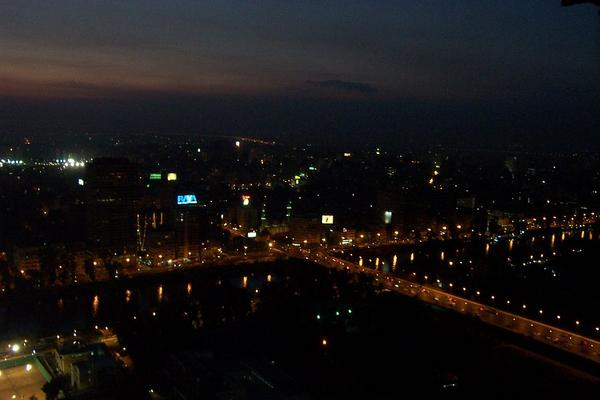 Cairo, Egypt: View of Cairo at night (3)