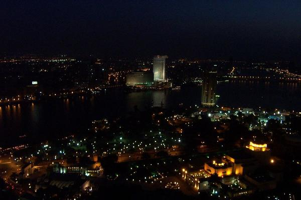 Cairo, Egypt: Cairo View at night (2)