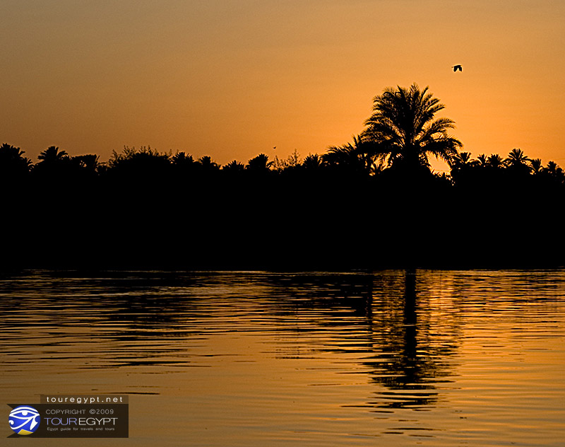 Egypt : Sunset in Nile