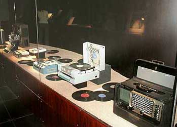 Records, record players and radios in the Umm Kalthoum Museum