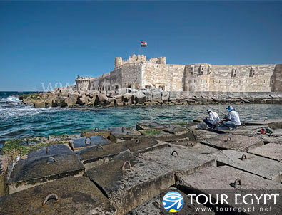 The Qaitbay Citadel in Alexandria, Egypt