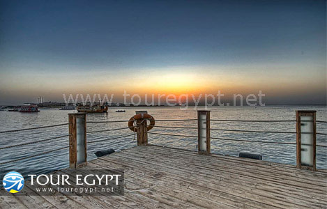 Dusk on a dock in Neama Bay, Sharm El Sheikh