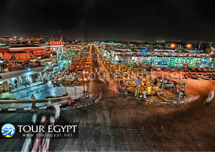 Naama Bay (Downtown) Sharm El Sheikh at night.