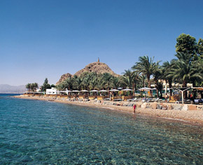 Private Beach at Hilton Taba Resort