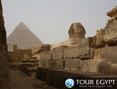 Sphinx and Pyramids, Giza, Egypt