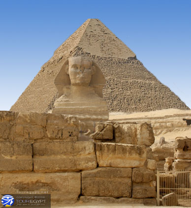 The Sphinx and Pyramids, Giza, Egypt