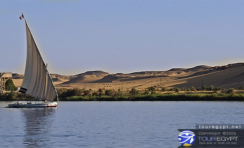 The Nile at  Aswan, Cairo