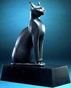 bronze cat statues