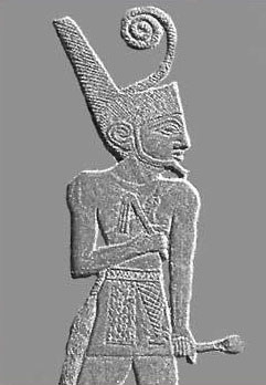 Note the flail held by King Narmer on his famous Palette, a very early example, but also note the lack of a crook.