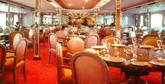 Dining Room Aboard the Diamond Boat