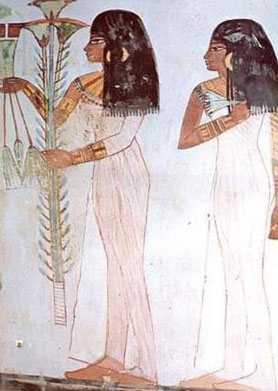 Two Girls Depicted in the Tomb of Menna
