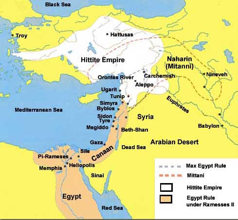 Who Were The Hittites - Map of egypt old kingdom