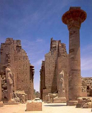 The Great Temple Complex   of  Karnak in Luxor (ancient Thebes) is one of the largest religious    centers ever built