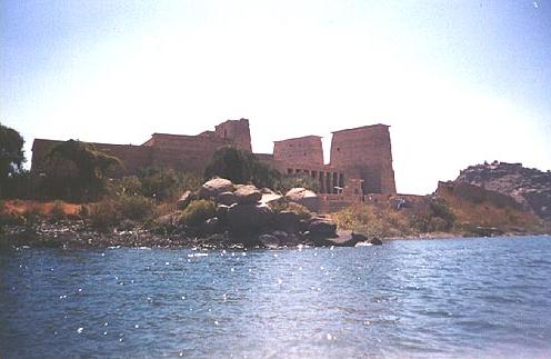 Temple of Philae from the Nile