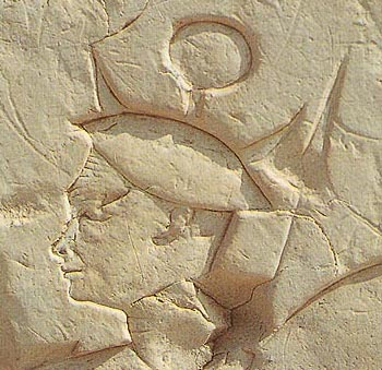 A Sherden Soldier from the Battle of Qadesh depicted on the temple of Ramesses II at Abydos