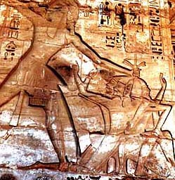 Ramesses III smiting the Sea People