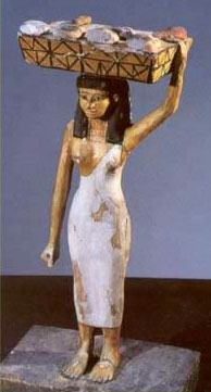 Statuette of a young servant girl who could be either a free peasant or a slave