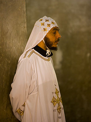 An older monk at the Monastery of the Syrians