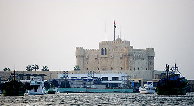 Fort Qaitbey from the  bay