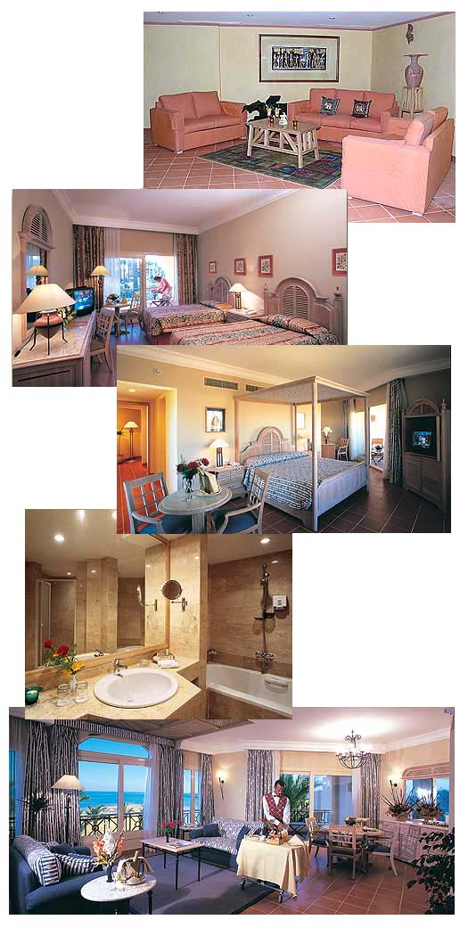 Various rooms in the Swiss Inn of Stella di Mare at Ain Soukhna