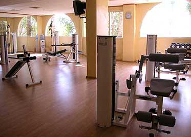 Workout room in the Thalasso Spa at the Swiss Inn of Stella di Mare at Ain Soukhna