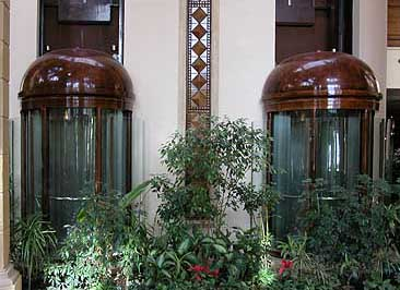 Elevators within the Swiss Inn at Stella di Mare at Ain Soukhna