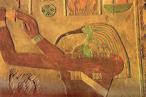 Thoth as an Ibis from the Temple of Hatshepsut