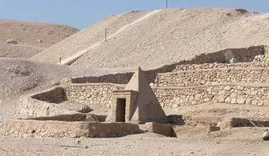A private pyramid at the  Necropolis of Deir el-Medina