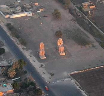 The Colossus of Memnon from  our balloon