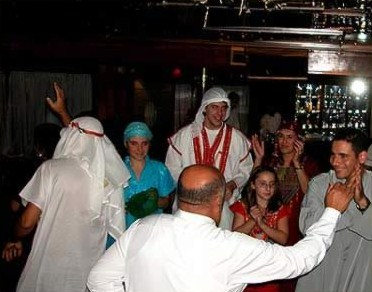 On the Radamis I, everyone  dresses up for a Gallabeya party