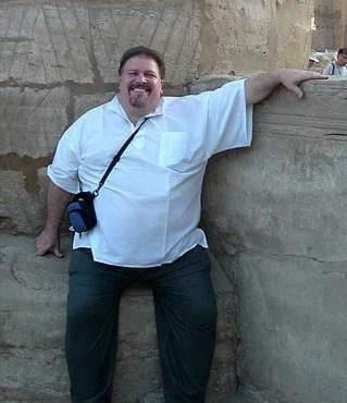 Our Florida Sales manager,  Alen, posses at Karnak