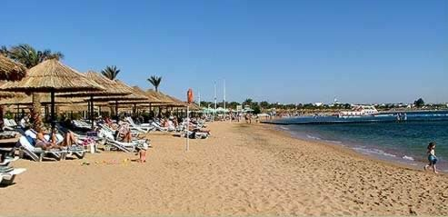 The beach at the Movenpick in Sharm el-Sheikh