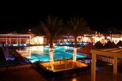 The Pool area of the  Movenpick where we stayed in Sharm