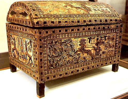 Wooden Hunting Coffer of Tutankhamen