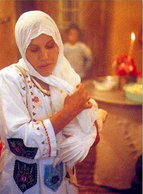 Woman participating in a Zar Ceremony