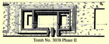 Tomb No. 3038 at Saqqara second phase plan