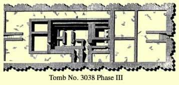 Tomb No. 3038 at Saqqara third phase plan