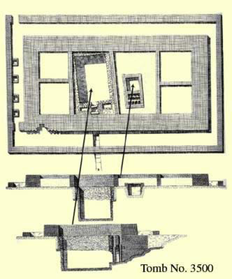 Plan of Tomb 3500 at Saqqara