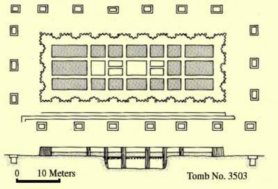 Plan of Tomb No. 3503 at Saqqara