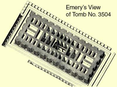 Emery's View of Tomb No. 3504 at Saqqara