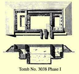 Tomb No. 3038 at Saqqara first phase plan