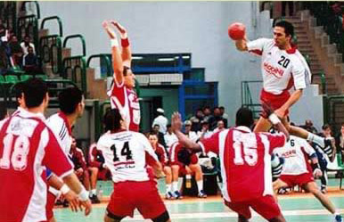 Hussein Zaki leading Egypt's handball team
