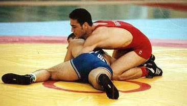 Abdel-Fattah (Bougi), one of the Egyptian Olympic Team's Wrestling hopefuls
