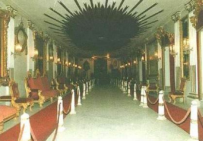 A reception hall in Prince Mohamed Ali's Palace.
