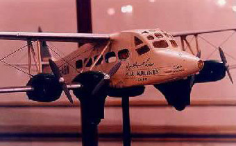 A model of a plane used by Egyptian post service in 1919