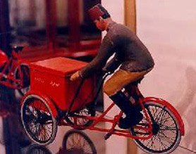 A distribution tricycle box made of iron sheet (1930's)