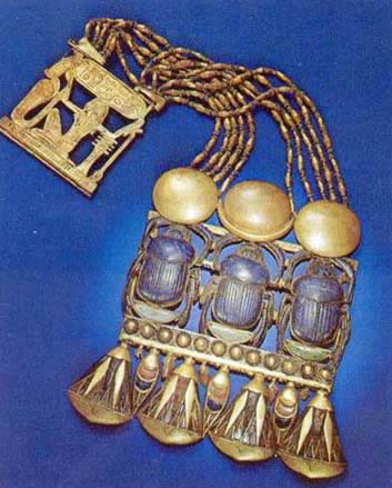 Necklace with Triple Scarab Pectoral